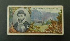 Cigarette Card F.& J.Smith's - Famous Explorers 1911 - Francisco Pizarro # 16