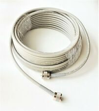 100' ft Tramflex Double Shield Coax Cable RG8X Assembly Gray PL259 CB HAM Radio