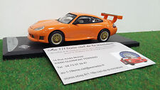 PORSCHE 911 GT3 996 orange 2000  1/43 SOLIDO 433189 voiture miniature collection