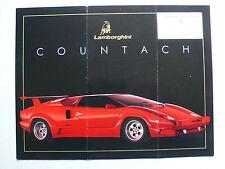 Prospetto LAMBORGHINI COUNTACH 25 Anniversary, 1988, 2 pagine, inglese USA