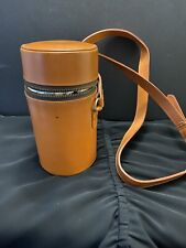 Excellent Vintage Leather Foster & Son London Zippered 3 Flask Liquor Carrier