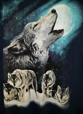 Wolves Of The night T-Shirt by The Mountain. Wolf pack Moon  2XL NEW  wb3