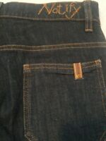 Notify Women's Flare Gaucho Dark Opium Washed Jeans Size 25 Made In Italy