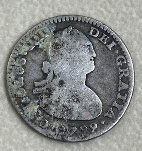 Mexico 1799 FM Calico - 441 Milled 1 Real Colonial Milled Currency Silver Coin $
