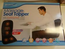 MASSAGE SEAT TOPPER HEAT VIBRATION HOME OFFICE BACK PAIN RELAXATION HEALTH TOUCH