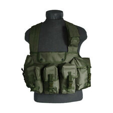 Tactisch Magazine Chest Rig Carry Vest 6 Zakken Combat Webbing Carrier Olive Od