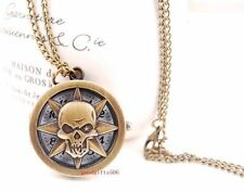 Wholesale Gifts 10 pcs Skull Round case Necklace Pendant watches R36-FREE SHIP