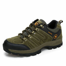 Men's Walking Trail Waterproof Low Cut Casual Brown Leather mountain Work Shoes