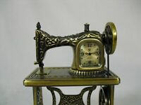 Waterbury Clock Co. By Timex Mini Sewing Machine Clock Brushed Metal With Box