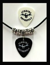 AVENGED SEVENFOLD A7X Guitar Pick Necklace *Leather Style* + Bonus FREE Pick.