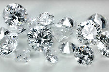 1.00ct Round Loose Diamond Lot 100pcs 1.3mm each Round Simulated Loose Diamond