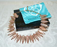 New $295 KENDRA SCOTT Stunning Gwendolyn Statement Necklace Peach Blush Illusion