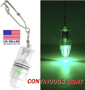 Green (Continuous) LED Underwater Submersible Fishing Light Crappie Shad Squid