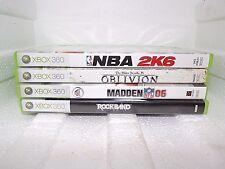 Xbox 360 Game Lot of 4, Basketball,Football,Rockband,Elder scrolls, All CIB EUC