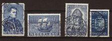 Pays bas 4 bonnes valeurs oblitérés 1934-39 P455 P455