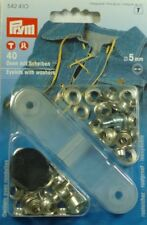 Prym Ösen mit Scheiben Öse 5mm Silber 542410