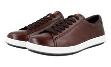 AUTHENTIC LUXURY PRADA SNEAKERS SHOES 4E2860 BROWN NEW US 7.5 EU 40,5 41