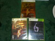 XBox 360 Video Games Resident Evil 5/Resident Evil 6 NOT TESTED Used Lot
