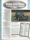 FICHE AUTOMOBILE - LA CITROEN TRACTION AVANT 1934