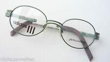 Adidas ovale abegrundete Brillenfassung Metallgestell leichte oliv grün size M.