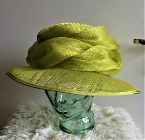 Country Casuals Lime Citrus Green Wedding Hat Special Occasions Garden Parties