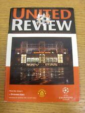 08/11/2000 Manchester United v Dynamo Kiev [UEFA Champions League] . Thanks for