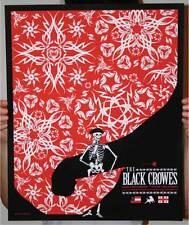 THE BLACK CROWES TULSA 08 SILKSCREEN GIG POSTER SLATER