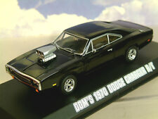 GREENLIGHT DIECAST 1/43 DOM'S 1970 DODGE CHARGER R/T BLACK FAST & FURIOUS 86201