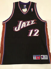 Authentic Utah Jazz John Stockton Champion NBA Alternate Jersey Size 48 NEW!!