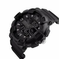 Mens Military Sport Waterproof Date Alarm LED Analog Digital Watch Chronograph