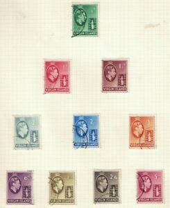 british virgin islands- george vi 1938 > used Ex-Old Time Collection Album Page