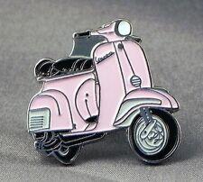métal émail épinglette broche SCOOTER VESPA MOTO MOTARD cavalier rose