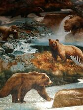 Beautiful Bears By The Water Fabric Scrap Quilt Sew Craft