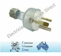 3 Pin Plug Top 15 amp Clear Electrical Accessories