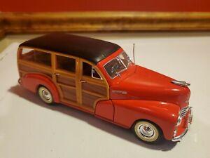 WELLY 22083 1948 CHEVROLET WOODY WAGON FLEETMASTER 1/24 DIECAST MODEL CAR RED