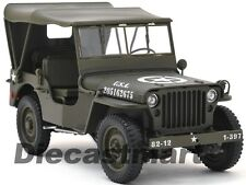 WELLY 18036W-H WILLYS 1/4 TON US ARMY JEEP WWII with TOP UP 1:18 DIECAST GREEN