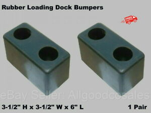 """LOADING DOCK BUMPERS (1-Pair) 6"""" Long Rubber Boat Warehouse Trailer Truck"""