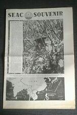 SOUTH EAST ASIA COMMAND (SEAC) SOUVENIR NEWSPAPER- Aug 1944- Louis Mountbatten.