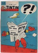 TINTIN n°735 du 22 novembre 1962 - Complet, bel état