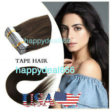 Tape In Hair Extensions Human Hair Invisible Seamless Skin Weft DoubleSided Tape