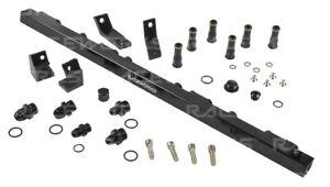 Raceworks Fuel Rail fits Ford Falcon BA-BF Black Suit Short Injectors