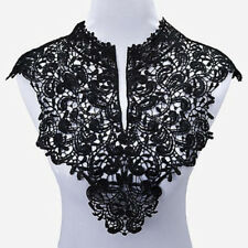 Embroidery Flowers Lace Neckline Fabric Collar For Sewing Supplies DIY Crafts GU
