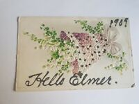 Greeting Postcard Vintage Hello Elmer