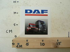 STICKER,DECAL DAF BUS VAN 400 AND TRUCK 95 380