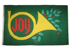 3x5 Christmas Joy Holiday Flag Outdoor Indoor Banner Festive Trumpet Merry 3'X5'