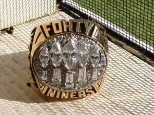 AUTHENTIC BALFOUR (SAMPLE) SF 49ERS SUPER BOWL CHAMPIONSHIP RING  STEVE YOUNG