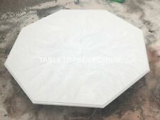 "30"" White Marble Octagon Coffee Table Top Handmade Design Furniture Decor E153"