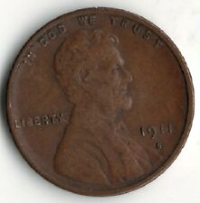 1911 S LINCOLN WHEAT PENNY