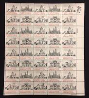 Vintage Mint OG USPS Stamp Sheet Colonial Architecture .15 Scott 1841 B2