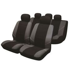 Black/Grey Full Set Front & Rear Car Seat Covers for VW Volkswagen Sharan